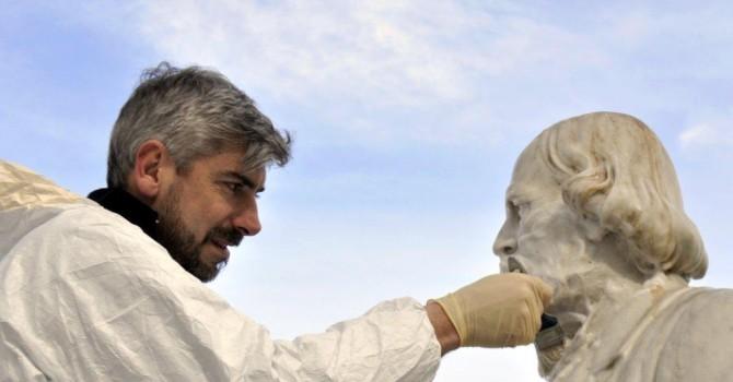 Gianicolo, Pronto Intervento busto lapideo